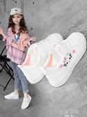 女童小白鞋2021春秋透氣新款兒童夏季板鞋小學生童鞋女孩運動鞋子