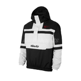 Nike 長袖T恤 Air Woven Jacket 黑 白 男款 連帽 半開襟 衝鋒衣 【PUMP306】 CJ4835-100