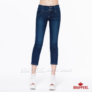 BRAPPERS 女款 新美尻 Royal 系列-中低腰彈性七分褲-藍