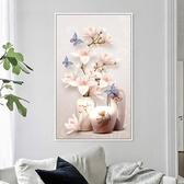 3d十字繡2020新款繡臥室清新花卉系列玄關豎版客廳線繡簡單小件幅 NMS名購居家