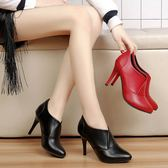 歐洲站女鞋冬新款高跟鞋短靴子細跟裸靴及踝靴秋季單鞋女 時尚潮流