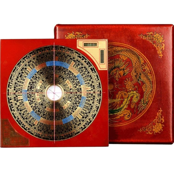 東銅羅盤定7寸三元三合綜合羅盤高精度隨身專業風水盤 美好生活