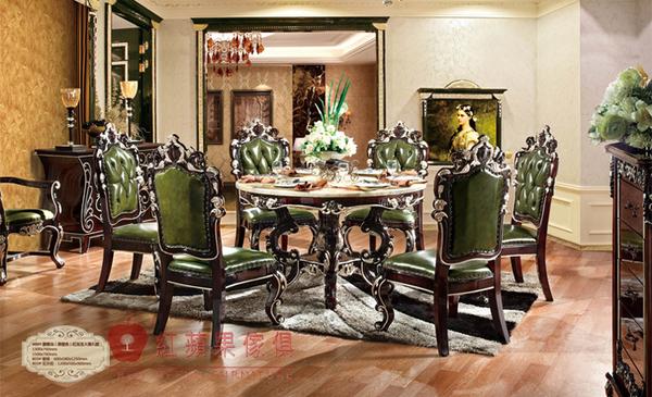 [紅蘋果傢俱] 808 新古典系列 大理石 圓餐桌 可訂製 可改色 數千坪實體 工廠直營