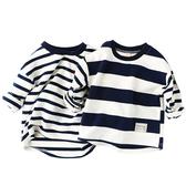 長袖上衣 條紋毛圈長袖上衣T恤 寶寶童裝 QY11724 好娃娃