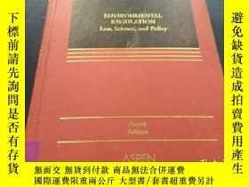 二手書博民逛書店ENVIRONMENTAL罕見REGULATION REGULATION Law,Science, and Pol