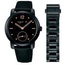 【萬年鐘錶】agnes b. 法式簡約時尚風 腕錶 金字 黑錶面 30週年限量套組 34mm BN4011X1 ( VD78-KZW0K )