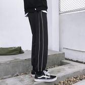 束腿褲 闊腿 運動風街頭直筒九分闊腿褲男女