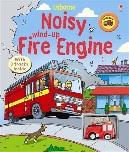 Noisy Wind-Up Fire Engine 車車書:消防車