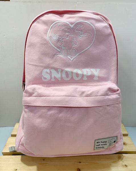 【震撼精品百貨】史奴比_Peanuts Snoopy ~SNOOPY帆布後背包-粉#42600