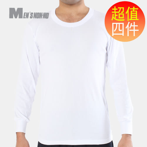 non-no儂儂褲襪 (4入)男圓領長袖內衣