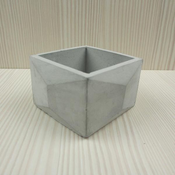 (BEAGLE) 正方幾何型創意水泥盆栽/多肉水泥花器/仙人掌水泥花盆/水泥植栽/水泥盆器