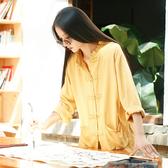 茶服麻布女裝中國風禪意茶藝服裝棉麻盤扣上衣中式傳統文化佛繫衣服女聖誕交換禮物
