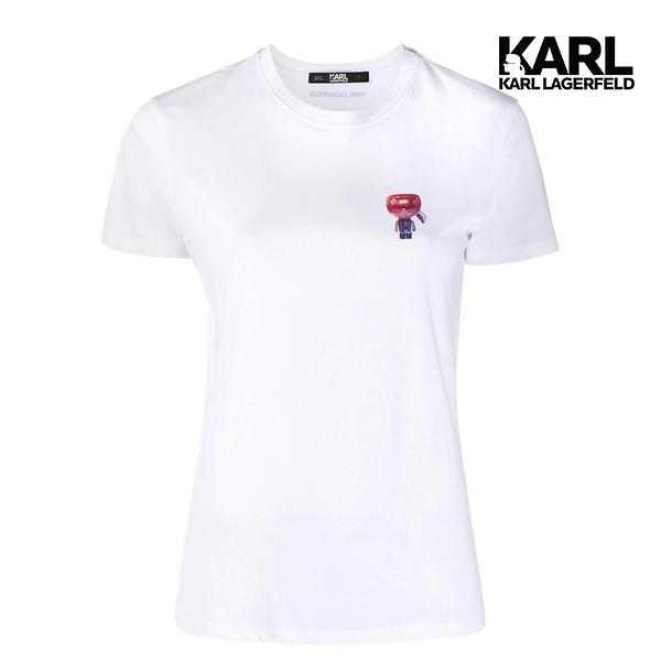 【KARL LAGERFELD】3D小IKONIK T恤-白 (原廠公司貨)