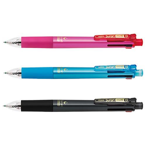 【奇奇文具】【ZEBRA  斑馬 原子筆】B4SAS11 Surari multi 4+1 (0.5mm) 斑馬多功能真順筆/油性原子筆
