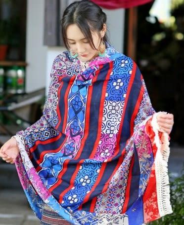 [協貿國際]  女士尼泊爾風情棉麻披肩旅遊圍巾 (1入)
