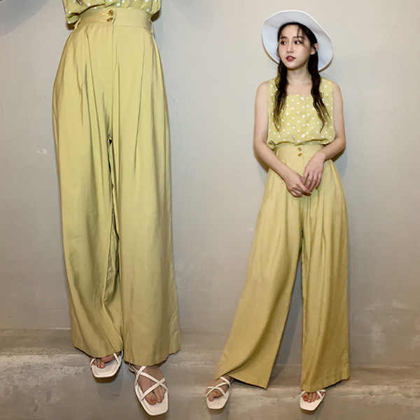 LULUS特價-Y雙釦質感布料直筒寬褲-5色 【04190113】
