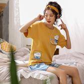 【預購款】居家服夏季新款睡衣套裝女短袖短褲甜美兩件套可外穿902#【時尚潮流部落】