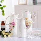 家用涼水壺大容量陶瓷大號茶壺涼白開水壺耐...