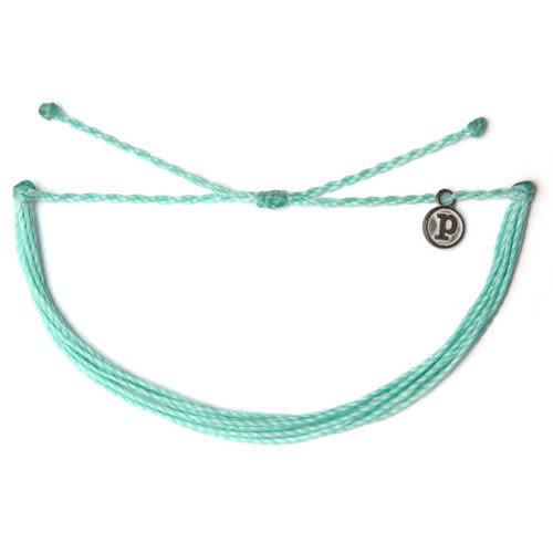 Pura Vida 知名美國衝浪品牌SOLID SEAFOAM 水草藍色 基本款 手環