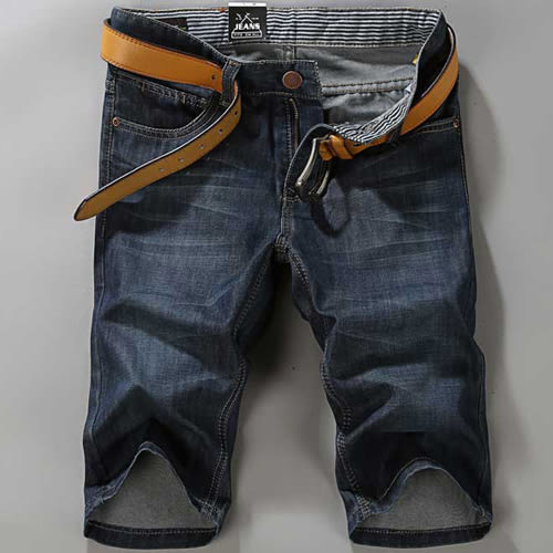 PocoPlus 夏天潮流必備款 潮男穿搭牛仔五分褲 M159