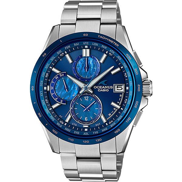 【台南 時代鐘錶 CASIO】卡西歐 OCEANUS 宏崑公司貨 OCW-T2610F-2A 太陽能電波鈦金屬腕錶