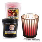 YANKEE CANDLE 香氛蠟燭-仲夏之夜+玫瑰(49g)X2+祈禱燭杯