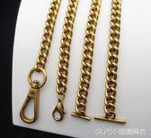 雙G包小號包包鍊條配件斜背包肩帶金屬鍊單買古金色溜金色一字扣    琉璃美衣