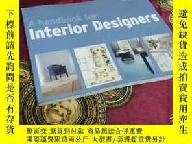 二手書博民逛書店Handbook罕見for Interior Designers