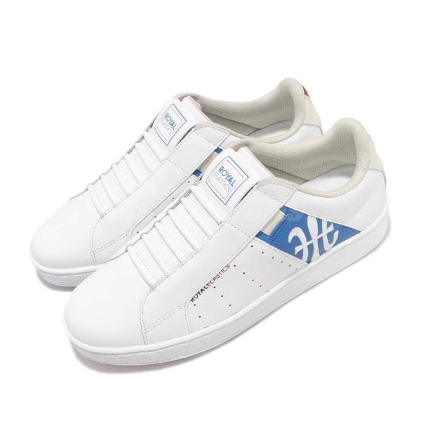 Royal Elastics 休閒鞋 Icon Genesis Chunk 白 藍 皮革鞋面 無鞋帶 橡膠大底 男鞋【PUMP306】 01992051