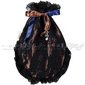 【VT薇拉寶盒】JILL STUART 雙面女伶蕾絲束口包