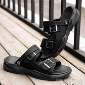 夏季新款休閒運動防滑男士涼拖青年軟底拖鞋男韓版外穿兩用沙灘鞋 快速出貨