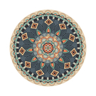 地毯 北歐摩洛哥民族風圓形地毯臥室床邊地毯客廳電腦轉椅墊衣帽間書房  星河光年DF