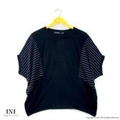 【INI】注目寬袖、輕盈柔軟觸感寬袖上衣.黑色