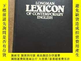 二手書博民逛書店英文原版罕見LONGMAN LEXICON OF CONTEMPORARY ENGLISH 朗曼当代英语分类词典奇