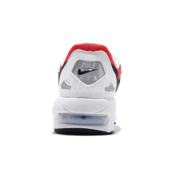 Nike 復古慢跑鞋 Air Max 2 Light 白 紅 黑 氣墊 男鞋 運動鞋 【ACS】 AO1741-101