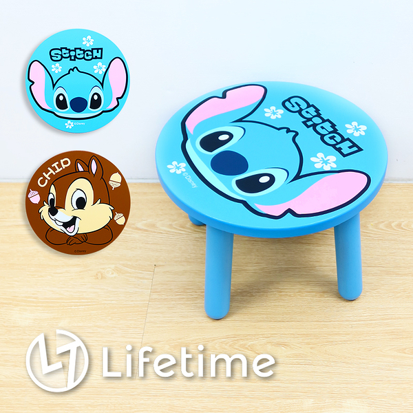 ﹝迪士尼圓型木矮凳椅﹞正版 凳椅 換鞋凳 矮凳 椅子 小凳椅 迪士尼〖LifeTime一生流行館〗