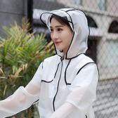 單人旅游透明雨衣成人徒步男女式學生風格時尚風衣長款雨披