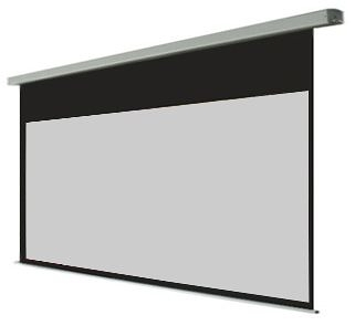 家庭劇院投影機灰幕首選100吋16:9 投影灰幕87*49電動投影機布幕(電動灰幕)含遙控組