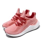 adidas 慢跑鞋 AlphaBoost W 粉紅 白 女鞋 Boost中底 運動鞋 【PUMP306】 EG1430
