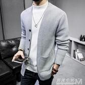 春秋季男士毛衣開衫韓版大碼修身外套針織衫外穿毛線衣潮個性上衣 遇見生活