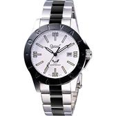 Ogival 愛其華 經典夜鷹氚氣燈管腕錶-IP黑框x雙色/40mm 827TMSB