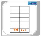 【西瓜籽文具】裕德 電腦標籤 14格 US4452 100張 三用標籤 列印標籤