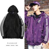 外套ins超火的男春秋學生紫色棒球服休閒寬鬆運動男裝夾克潮 陽光好物