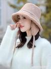 雷鋒帽 帽子女秋冬季韓版漁夫帽百搭雙面日系羊羔絨盆帽騎車護耳保暖帽潮 星河光年