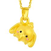 迪士尼系列金飾-TSUM TSUM造型黃金墜子-小飛象款
