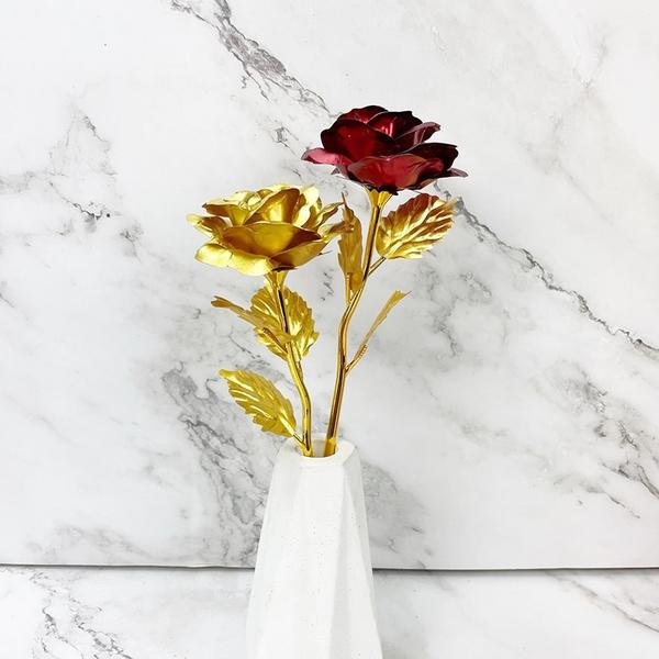 現貨 24k 金箔玫瑰花禮盒 母親節禮物 謝師禮盒 玫瑰花 金色 情人節 禮物 節日 玫瑰