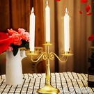復古鐵藝燭臺歐式創意餐廳蠟燭臺餐桌擺件裝飾品美式裝飾婚慶擺設 小艾新品