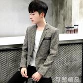 韓版小西裝男士外套青年商務休閒修身帥氣秋冬季薄款西服潮