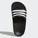 ADIDAS DURAMO SLIDE K 女鞋 童鞋 拖鞋 防水 一體成形 黑 白 【運動世界】 G06799