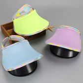 童帽 遮陽帽 防曬 簍空不悶熱 二層阻擋紫外線 大帽沿 四色 寶貝童衣